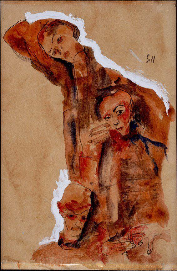 Painting: EGON SCHIELE (Austrian, 1890-1918) (ATTRIB)