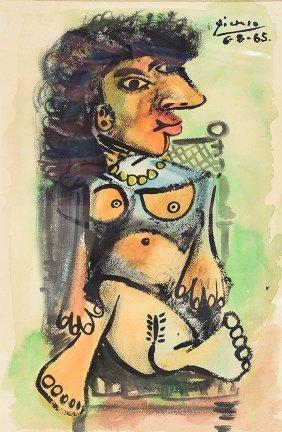 Painting: Pablo Picasso (spanish, 1881-1973) Attrib