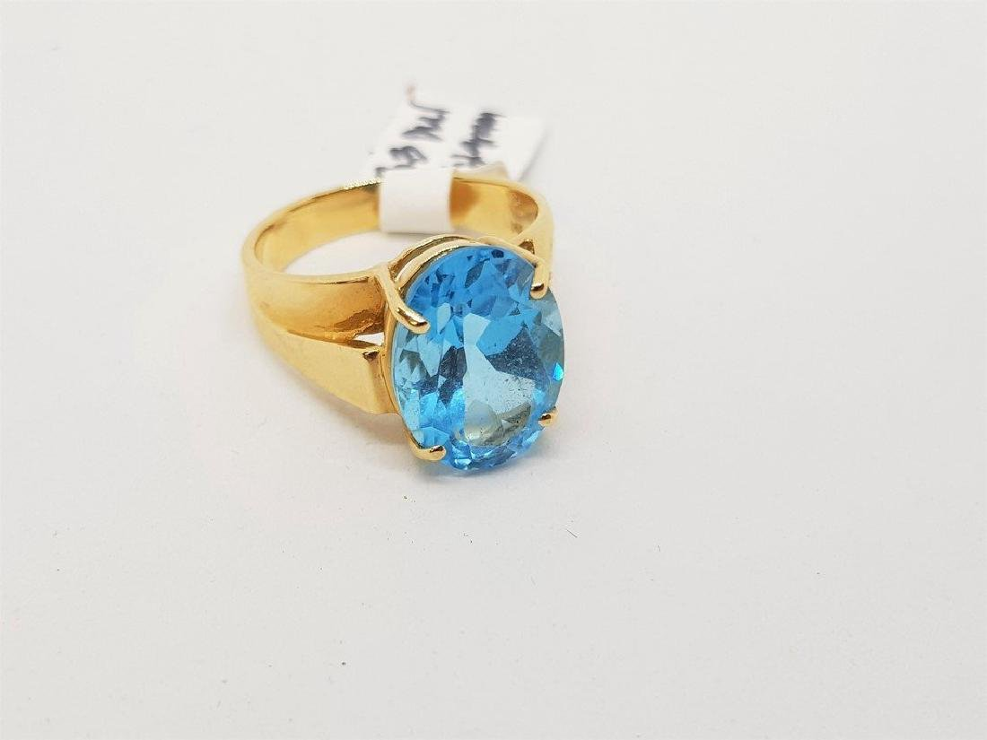 BLUE TOPAZ 14K YELLOW GOLD RING