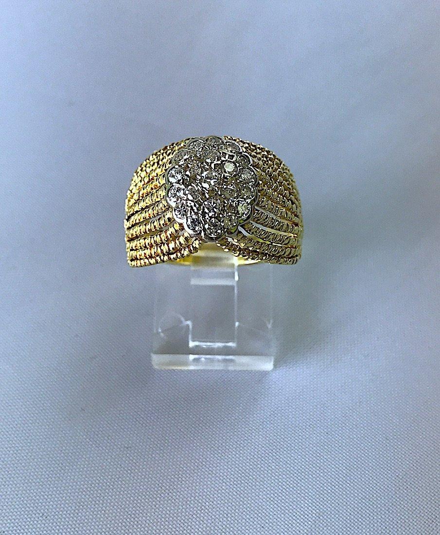 ARTDECO RING IN FILIGRAMA WITH DIAMONDS.