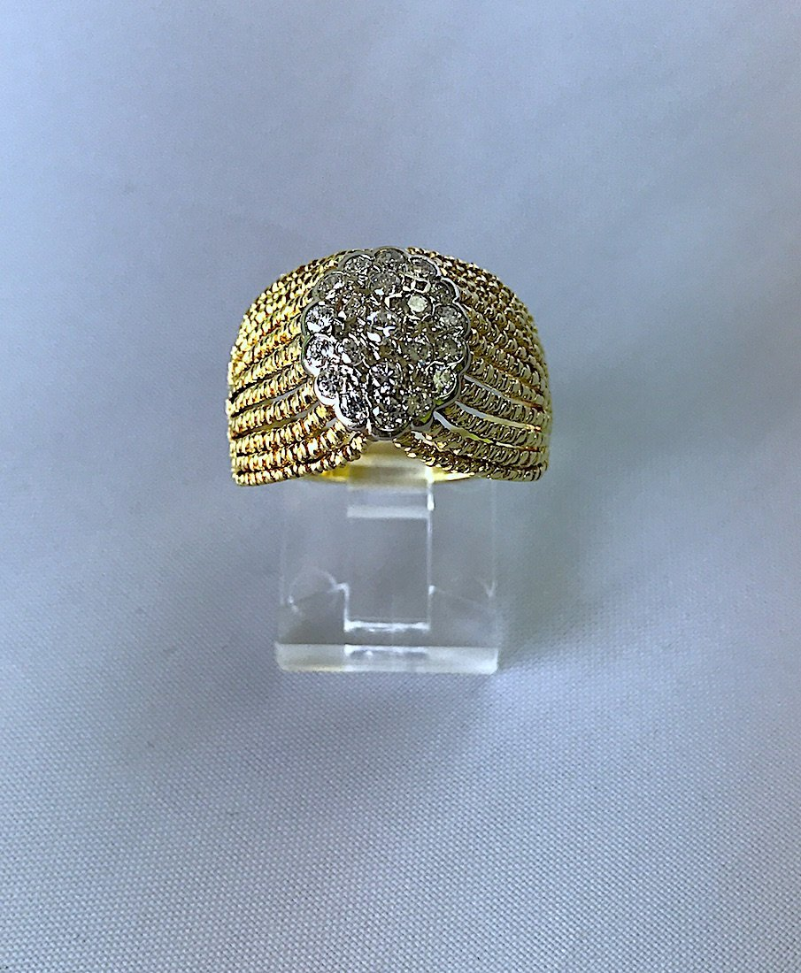 ARTDECO RING IN FILIGRAMA WITH DIAMONDS.