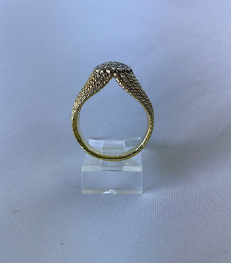 ARTDECO RING IN FILIGRAMA WITH DIAMONDS. - 5
