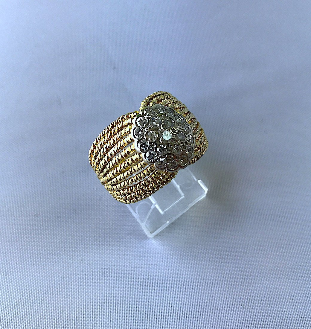 ARTDECO RING IN FILIGRAMA WITH DIAMONDS. - 6