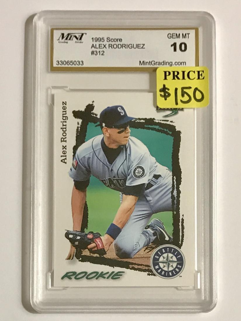 Gem 10 Alex Rodriguez Rookie Baseball Card