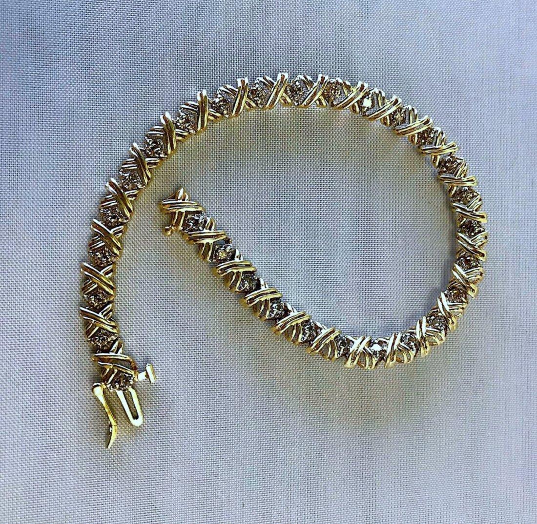 10K YELLOW GOLD BRACELET WITH 1.55CT DIAMOND 9.2G - 2