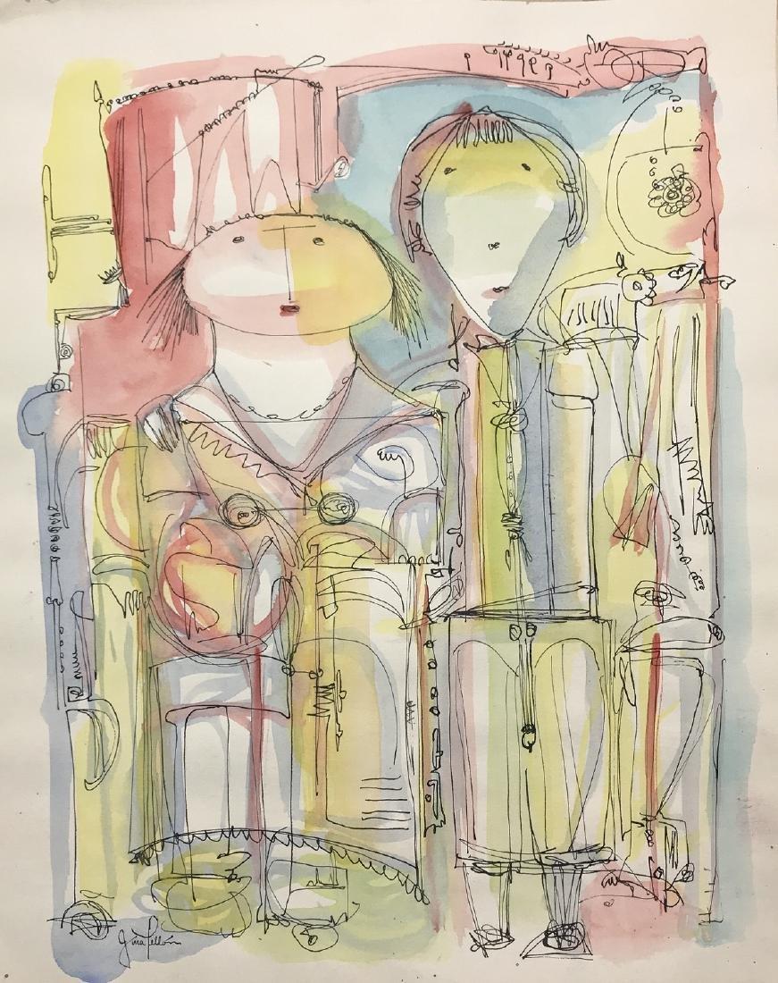 GINA PELLON, Mixed media on paper