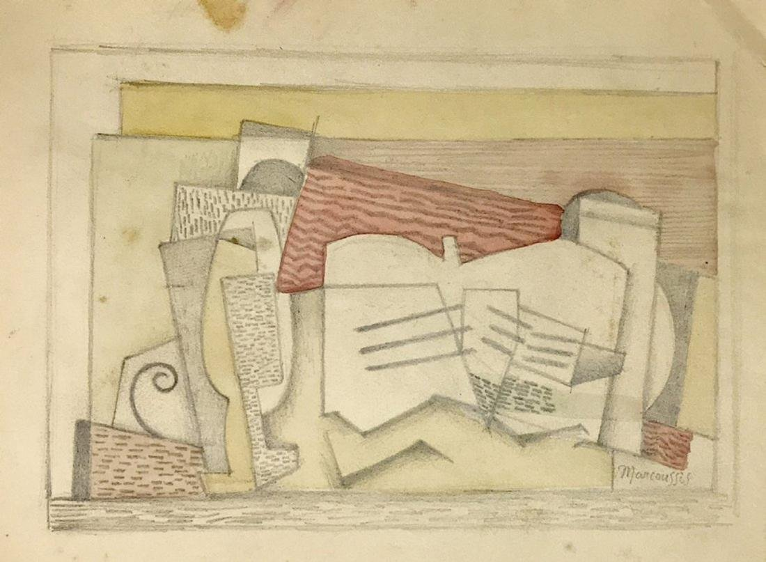 LOUIS MARCOUSSIS, Mixed media on paper