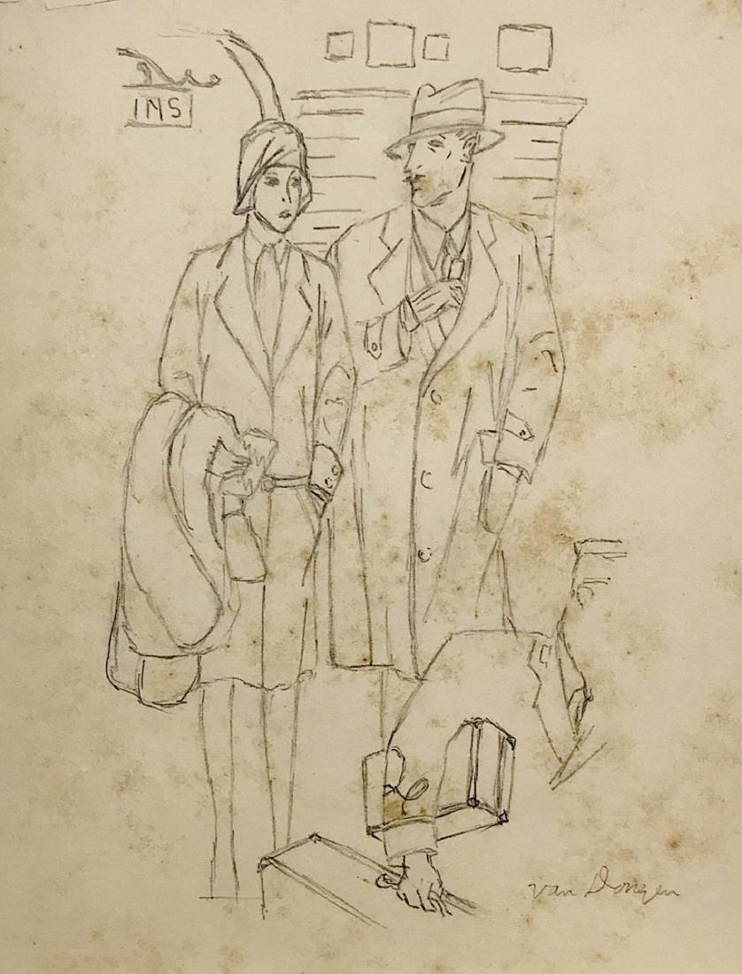 KEES VAN DONGEN, Pencil on paper