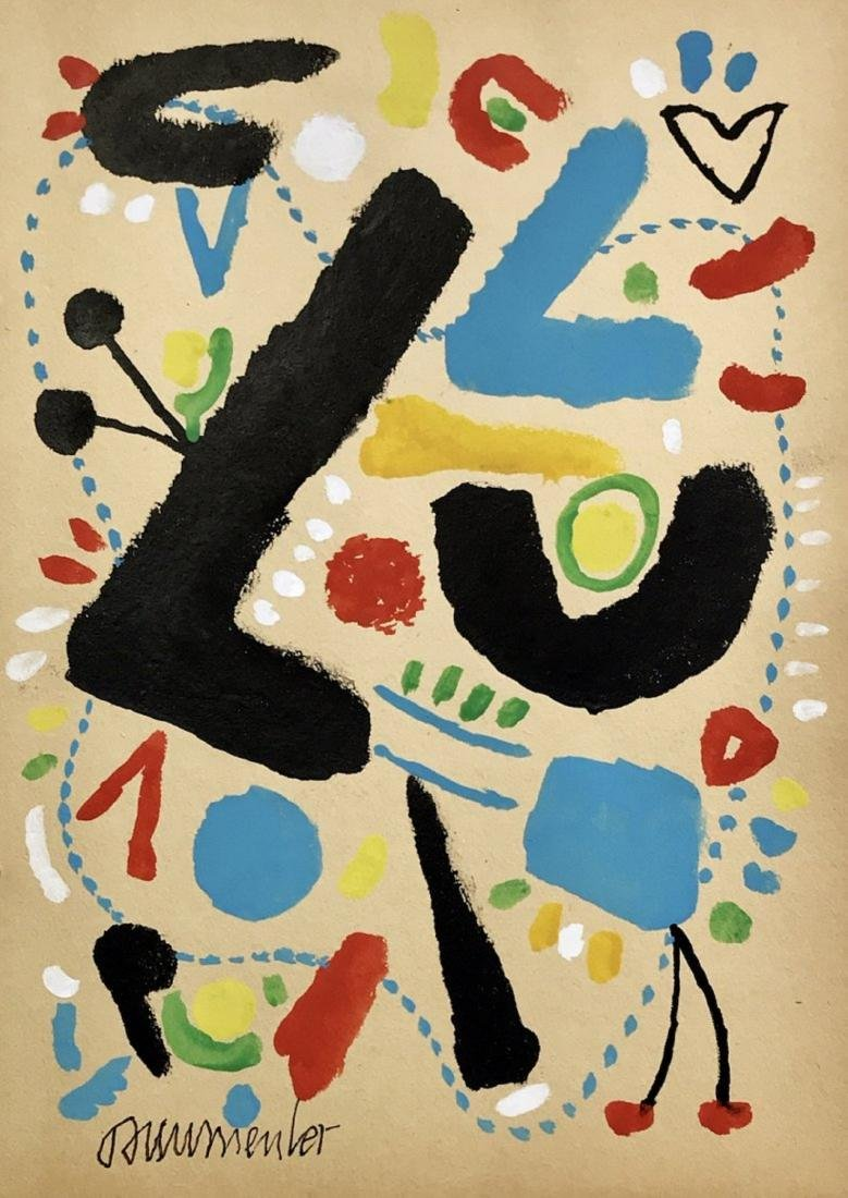 WILLI BAUMEISTER, Gouache on paper