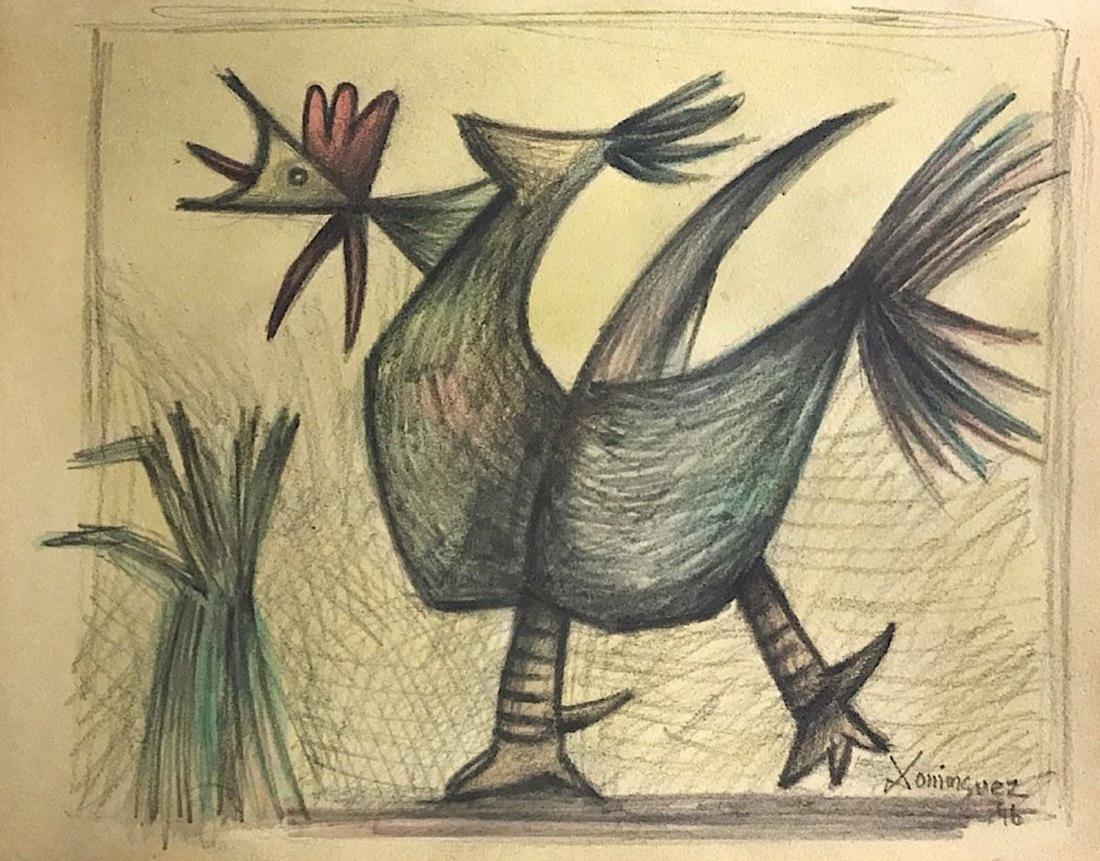OSCAR DOMINGUEZ, Pencil on paper