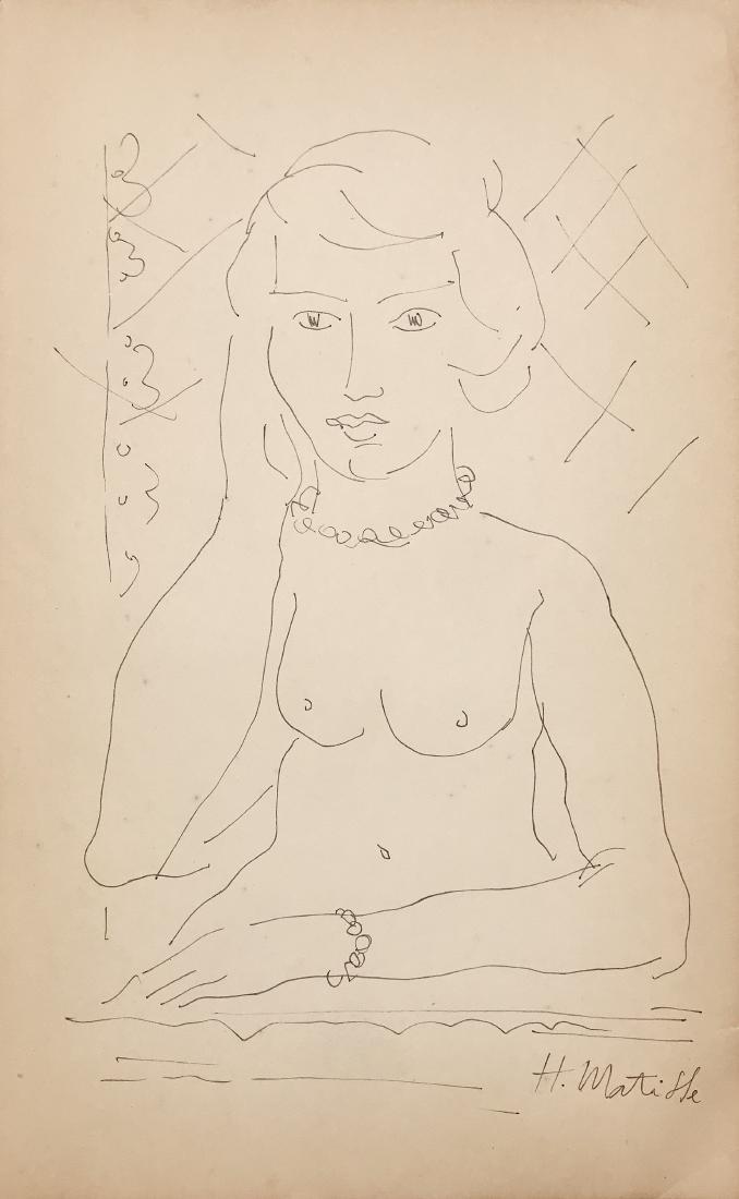 HENRI MATISSE, Ink on paper