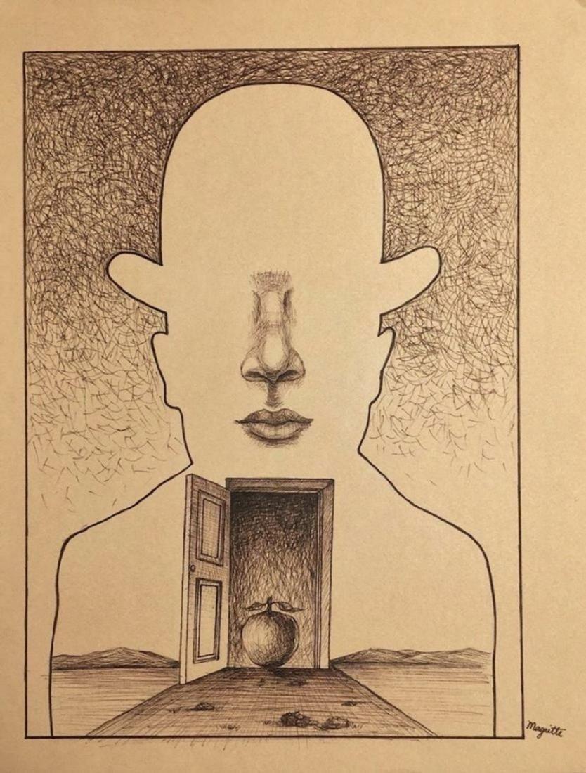 RENE MAGRITTE, Ink on paper