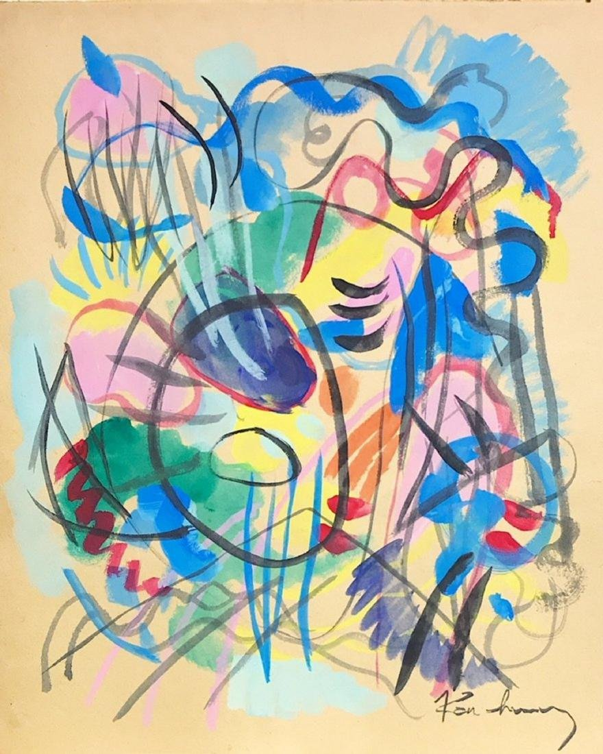 WASSILY KANDINSKY, Watercolor on paper,