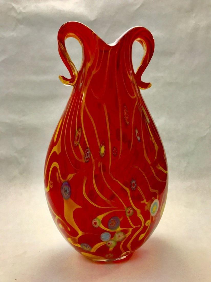MURANO ART GLASS VASE - 4