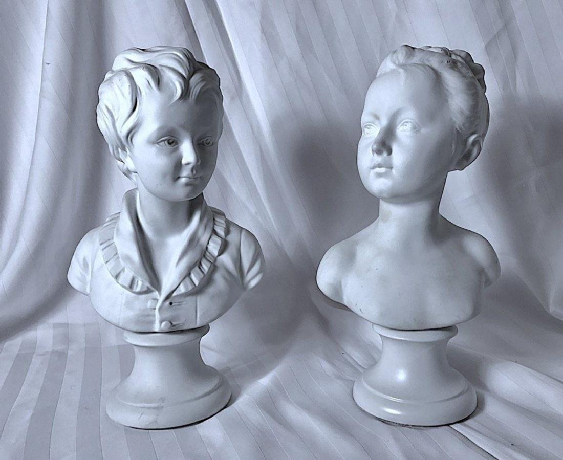CAMILLE THARAUD, Busts in Biscuit