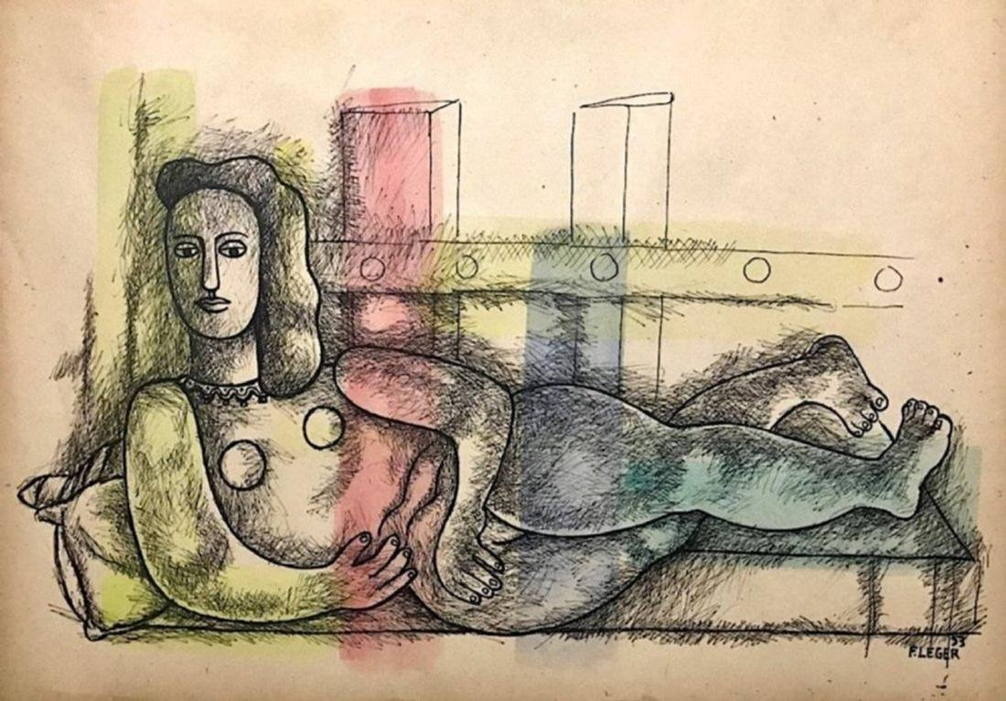 FERNAND LEGER, Mixed media on paper