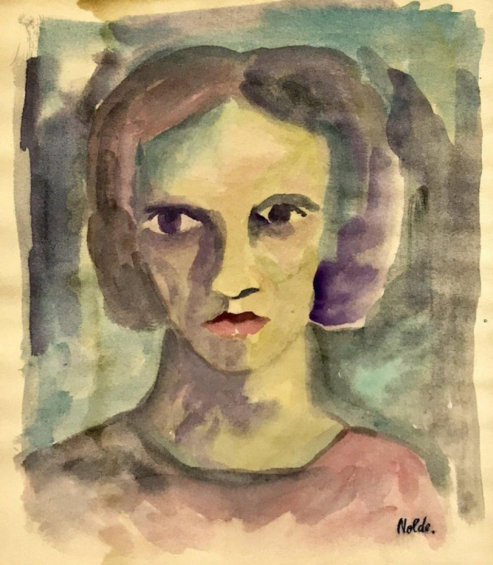 EMIL NOLDE, Watercolor on paper