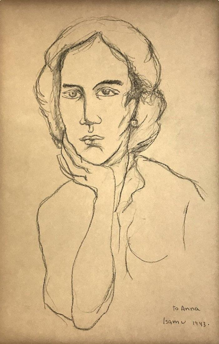 ISAMU NOGUCHI, Crayon on paper