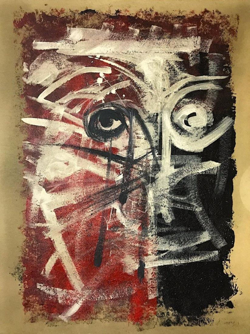 ANTONIO SAURA, Mixed media on Cardboard