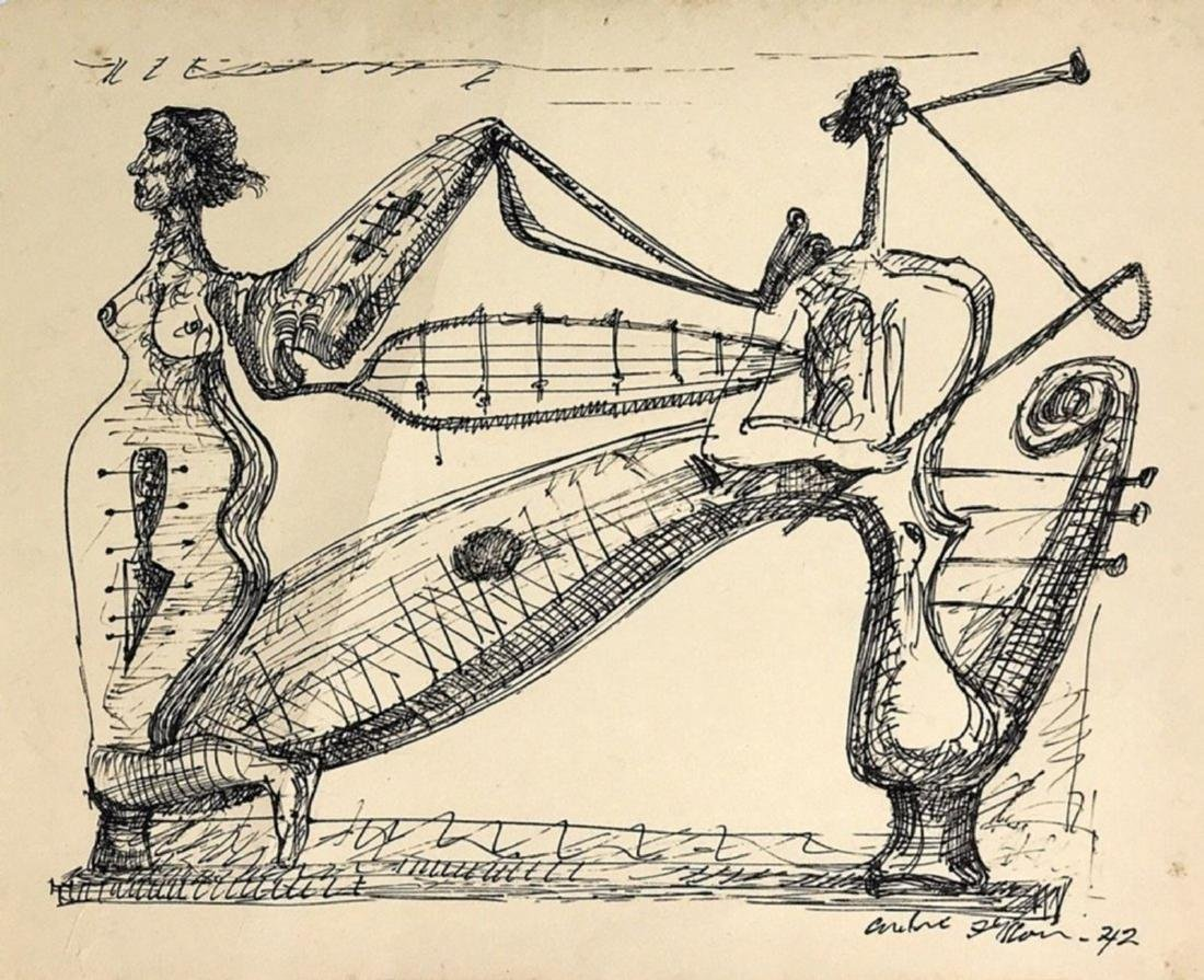 ANDRE MASSON, Ink on paper,