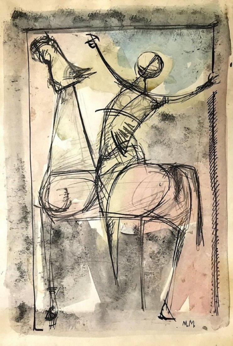 MARINO MARINI, Mixed media on paper