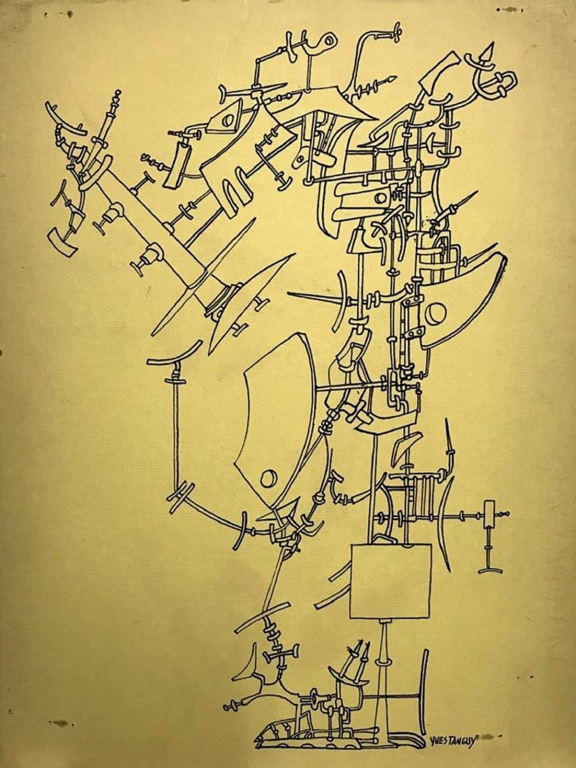 YVES TANGUY, Ink on board,