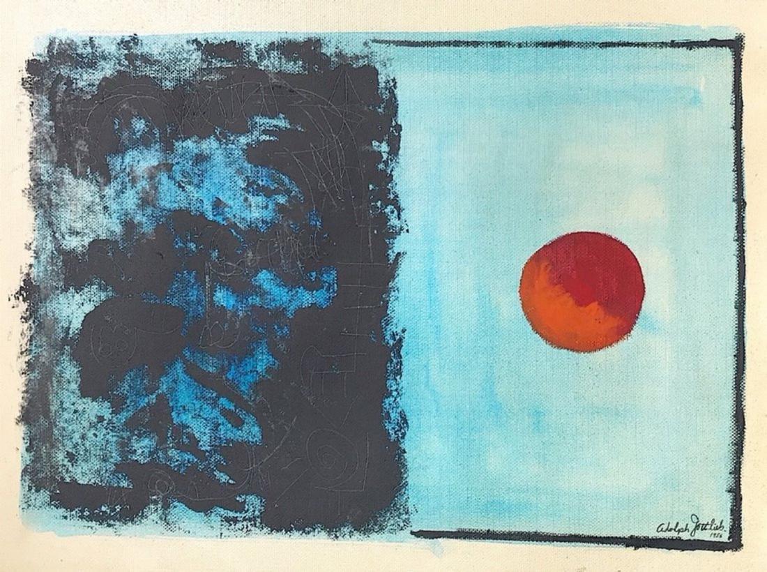 ADOLPH GOTTLIEB, Mixed media on canvas