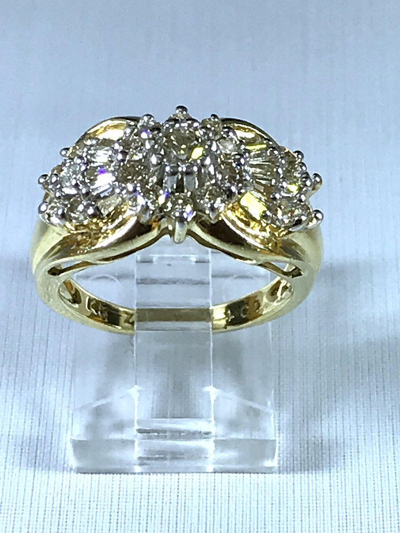 14k Two Tone Ring with Diamonds.