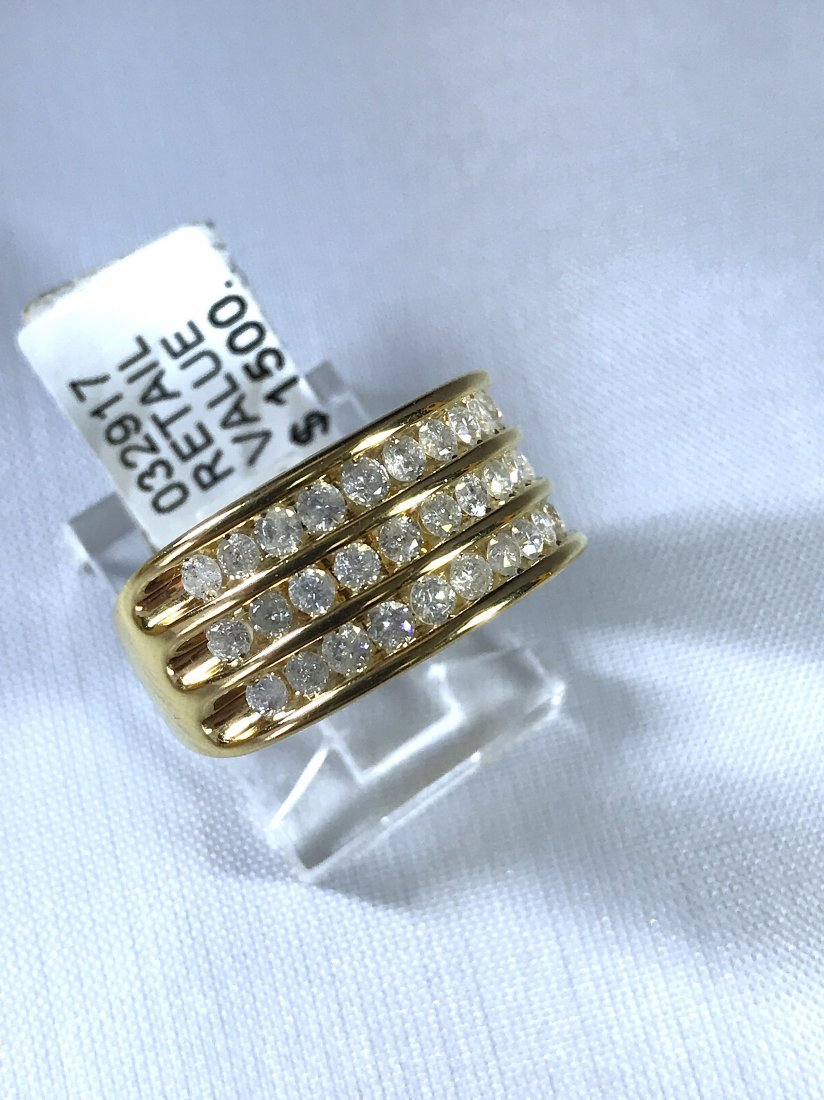 14k Yellow Gold Ring with Diamonds.
