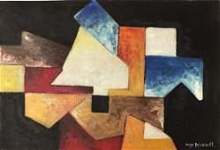 SERGE POLIAKOFF, Oil on canvas panel