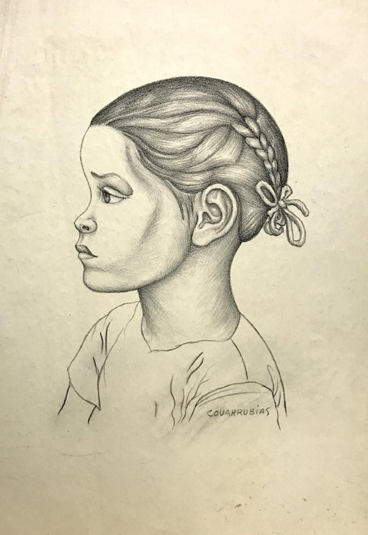 MIGUEL COVARRUBIAS, Charcoal on paper
