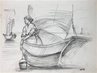 WINSLOW HOMER Charcoal on paper