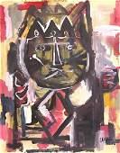 ANTONI CLAVE, Gouache on cardboard
