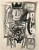 JEAN-MICHEL BASQUIAT, Gouache on paper
