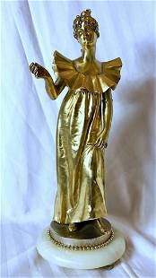 GEORGES COLIN Sculpture Gilded Bronze