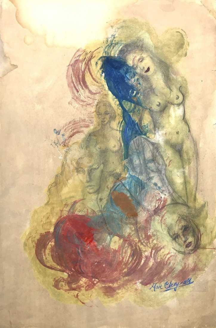 MARC CHAGALL, Mixed Media on Paper