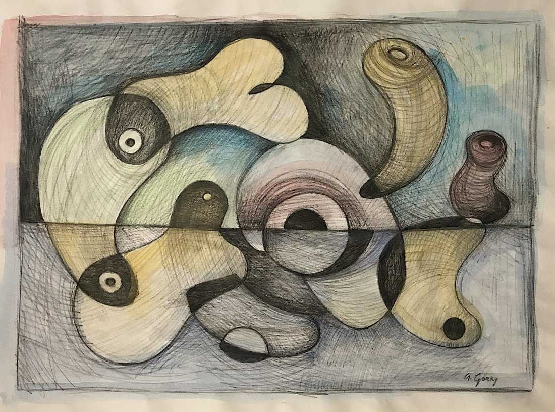 ARSHILE GORKY, Mixed Media on Paper