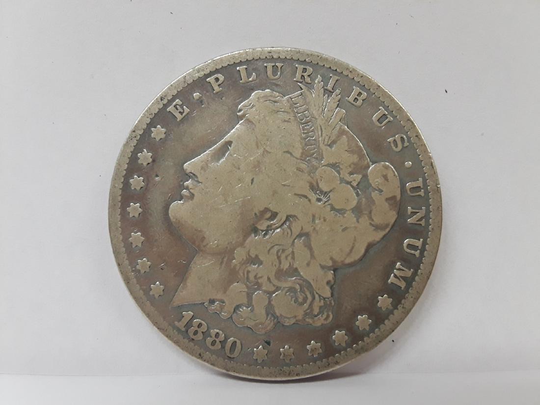 1880 S Morgan Silver US Dollar
