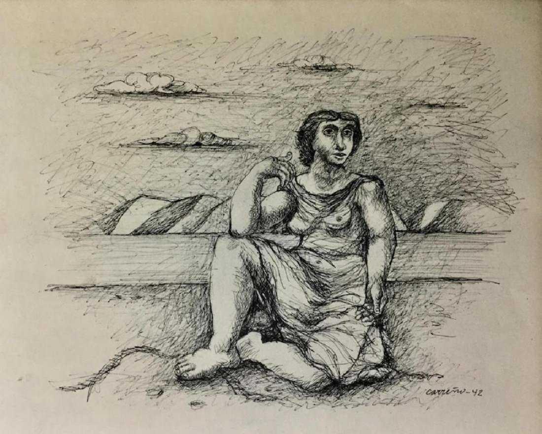 MARIO CARRENO, Ink on Paper
