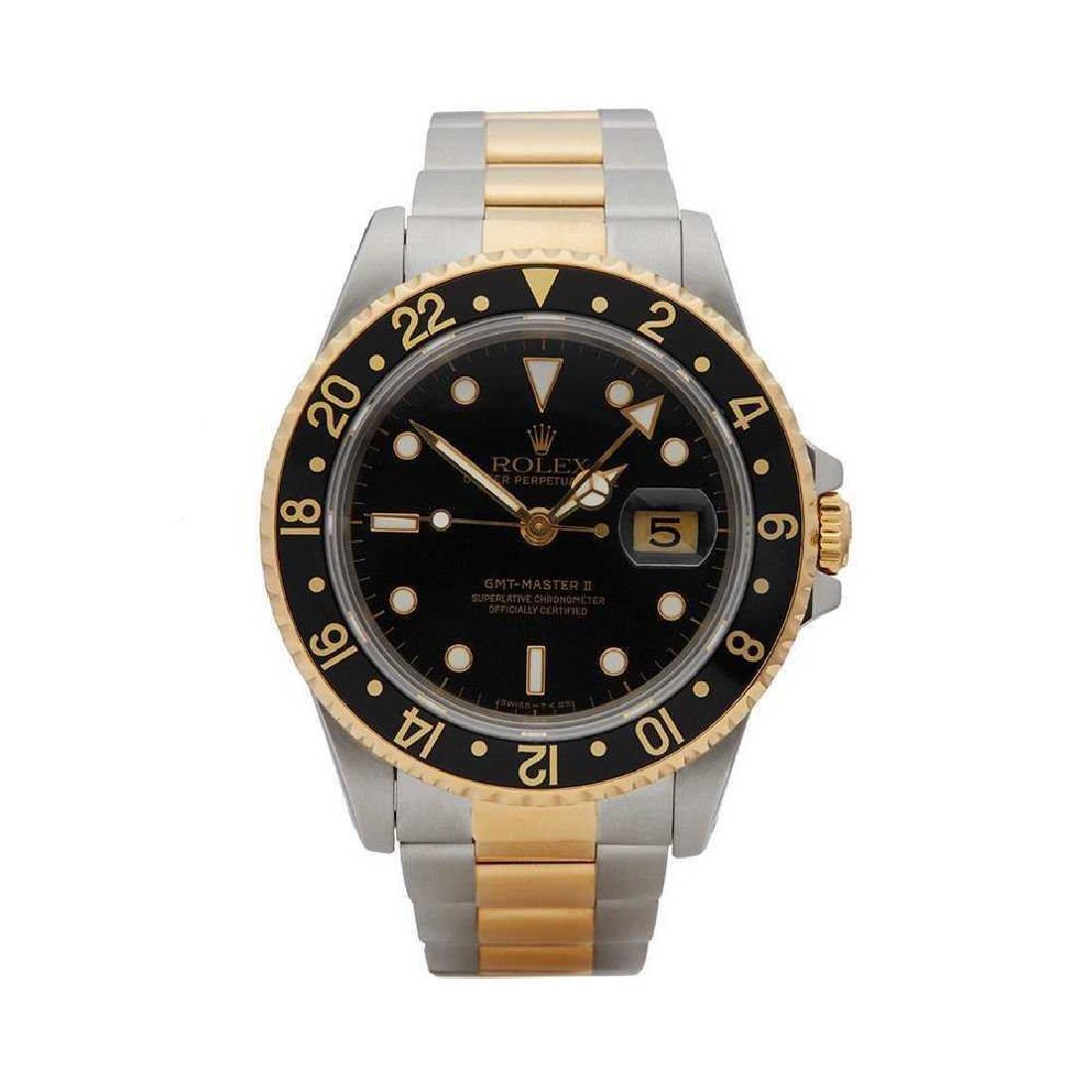 Rolex GMT Master II 16713, SS & 18K, Mens Watch.