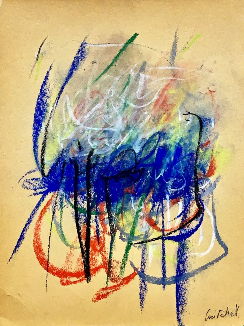 JOAN MITCHELL, Pastel on Paper