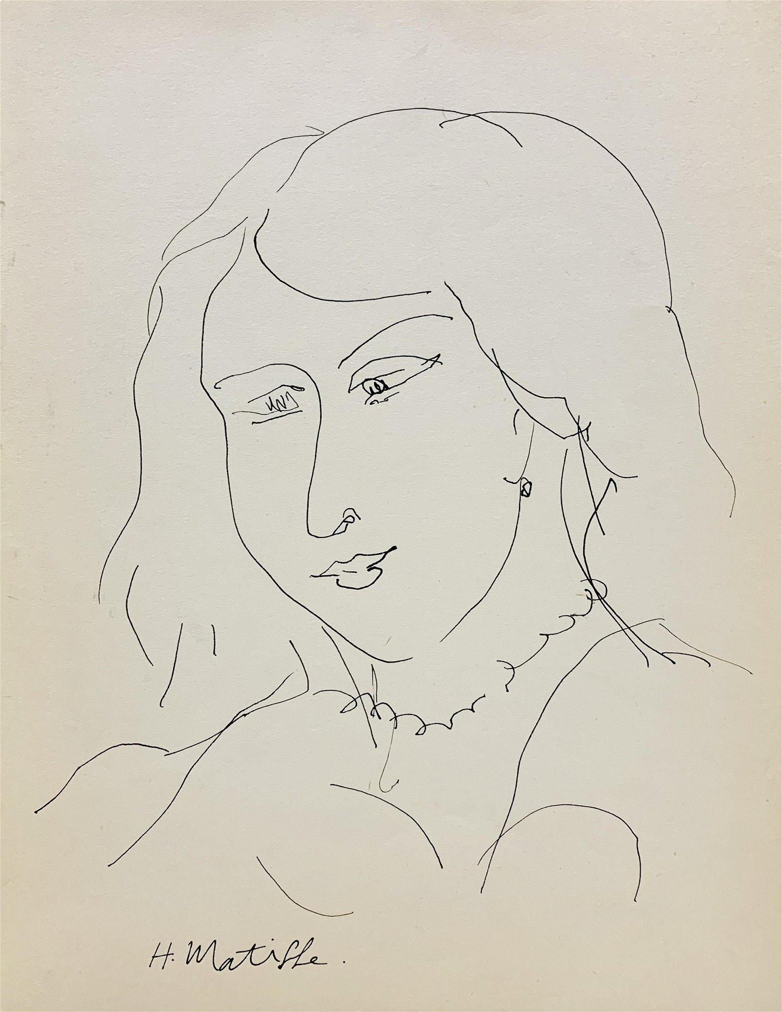 HENRI MATISSE, Ink on Paper (Attrib)