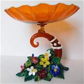 Beautiful Vintage Venetian Murano Art Glass Centerpiece