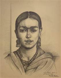 FRIDA KAHLO, Pencil on paper.