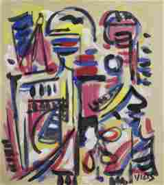 OSWALDO VIGAS, Gouache on Paper (Attrib.)