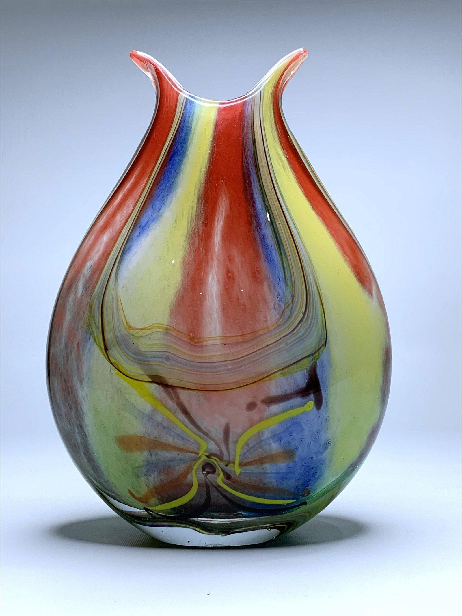 BEAUTIFUL VINTAGE MURANO ART GLASS VASE