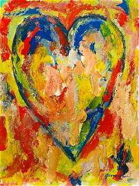 JIM DINE, OIl on Cardboard (Attrib)