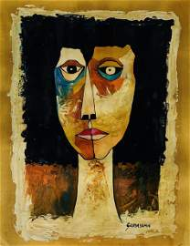 OSWALDO GUAYASAMIN, Oil on Board (Attrib.)