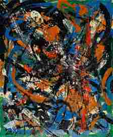 JACKSON POLLOCK, Oil on canvas (Attrib)