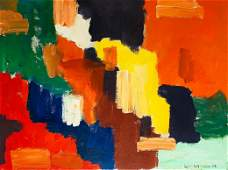 HANS HOFMANN Oil on Canvas panel Attrib